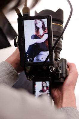 完全装備のカメラ