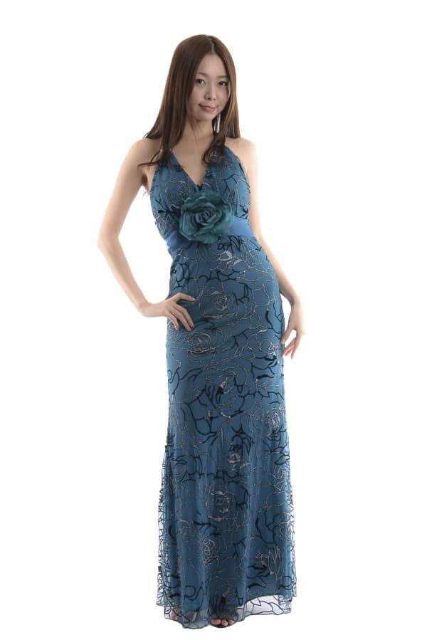 ロングドレス グリーン1