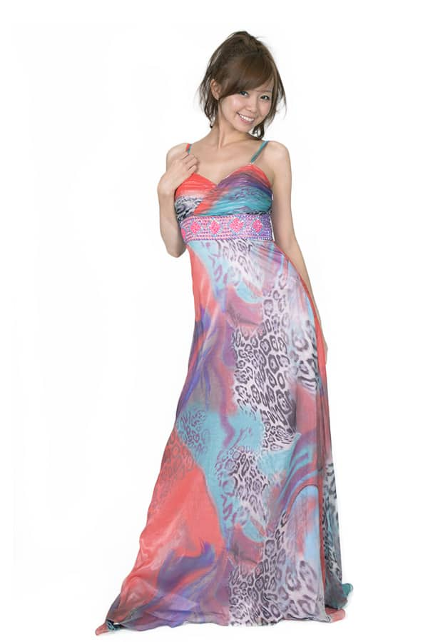ロングドレス 多色ドレス