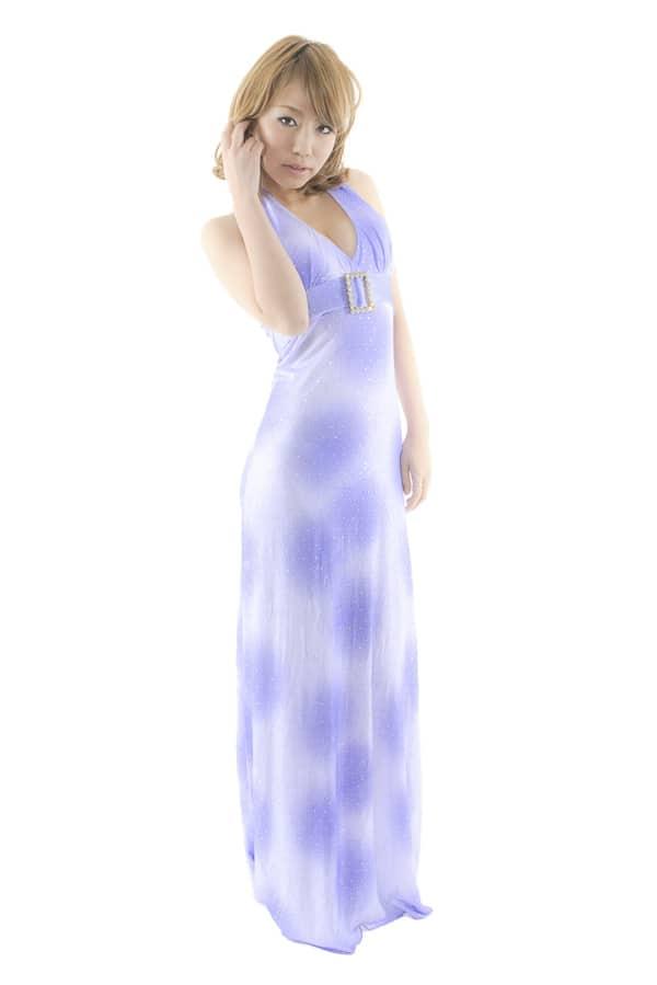 ロングドレス パープル2