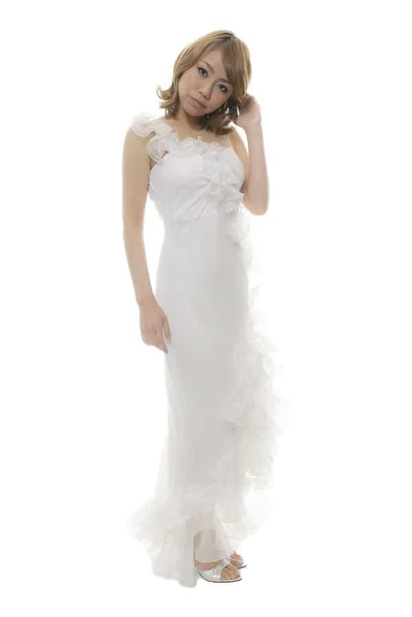 ロングドレス ホワイト