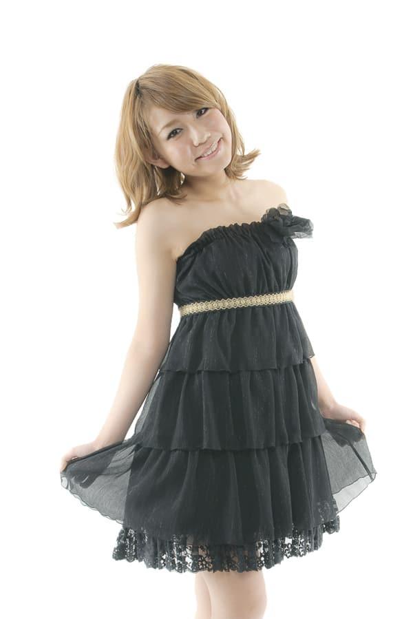 ミニドレス ブラック2