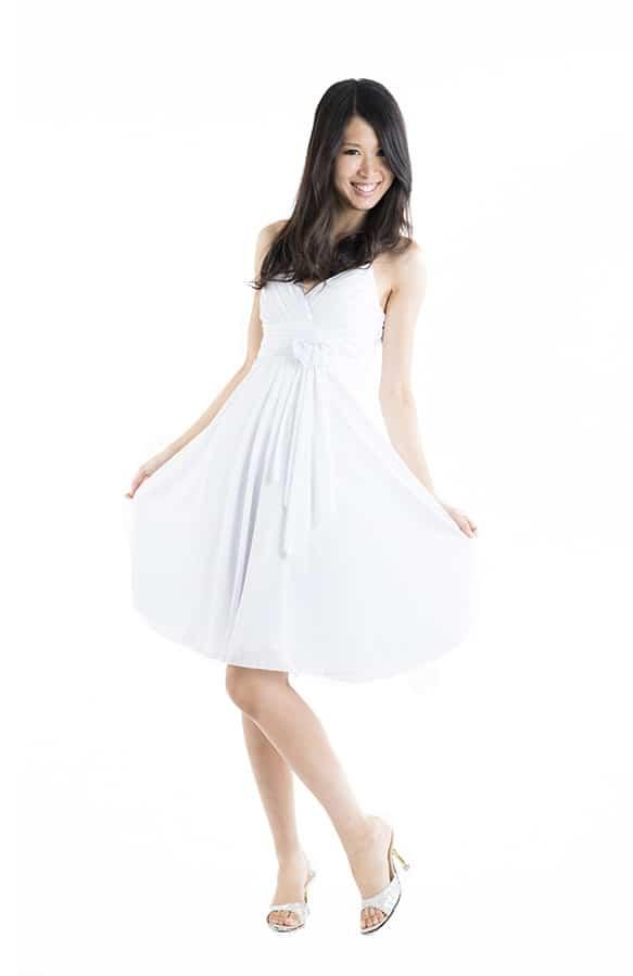 ミニドレス ホワイト