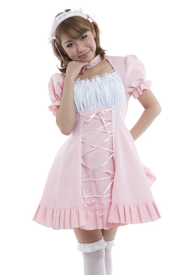 メイド服 ピンク